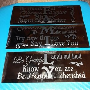 7x4 mirrors with quotes